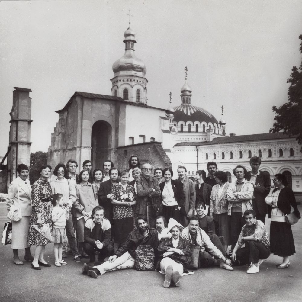 Даниїл Лідер з учнями та колегами. Фото з архіву В. Карашевського