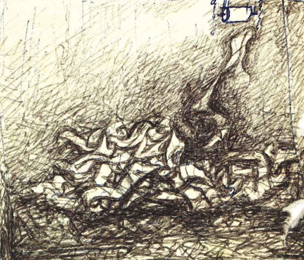 Малюнок «Візит старої дами. Фінал». 1980-ті рр.