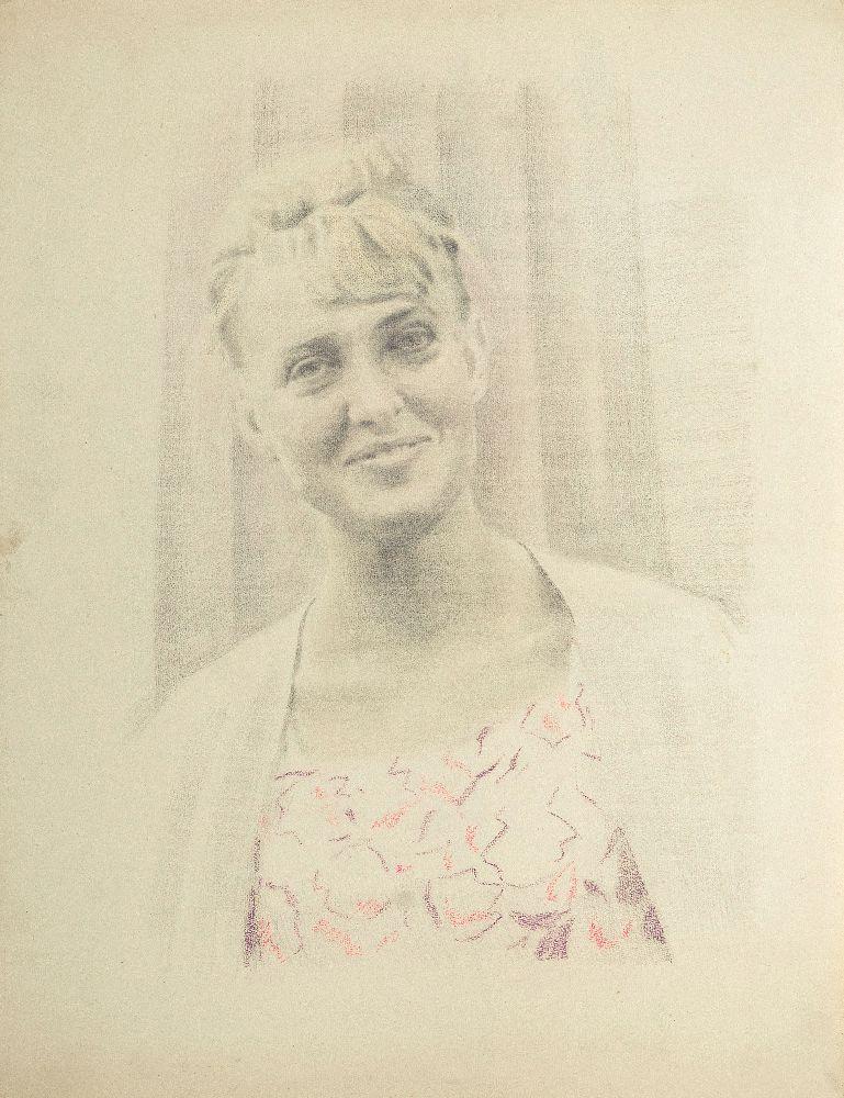 Портрет Алли Захарчук. 1994. Папір, олівець, кольоровий олівець