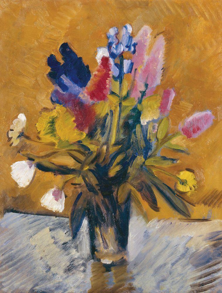 М.Тирса. Квіти усклянці. 1934. Полотно, олія. 46×37,5см