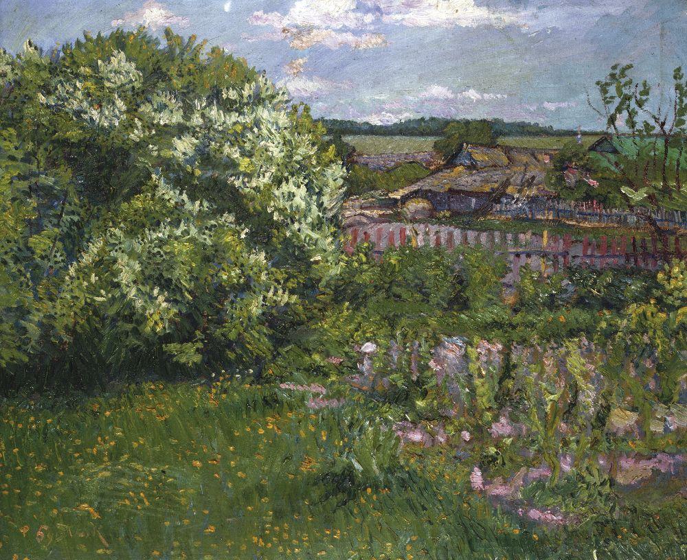 Д.Бурлюк. Сільський краєвид. 1900‑ті рр. Полотно, олія. 59,2×70,8см