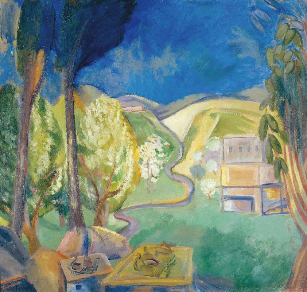 П.Кузнецов. Яблуні уцвіту. 1907. Полотно, олія. 66×77,5см