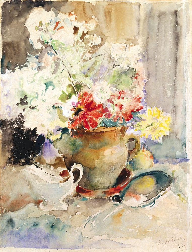 А.Фонвізін. Квіти. 1939. Папір, акварель. 41×31см
