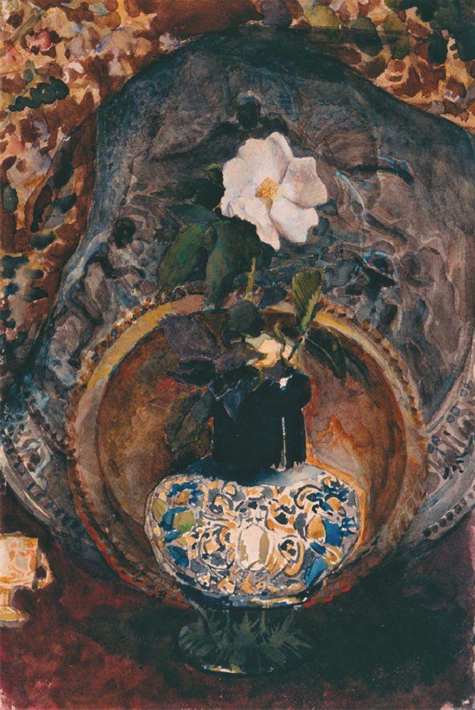 М.Врубель. Шипшина. 1884. Папір, акварель. 24,5×16,5см