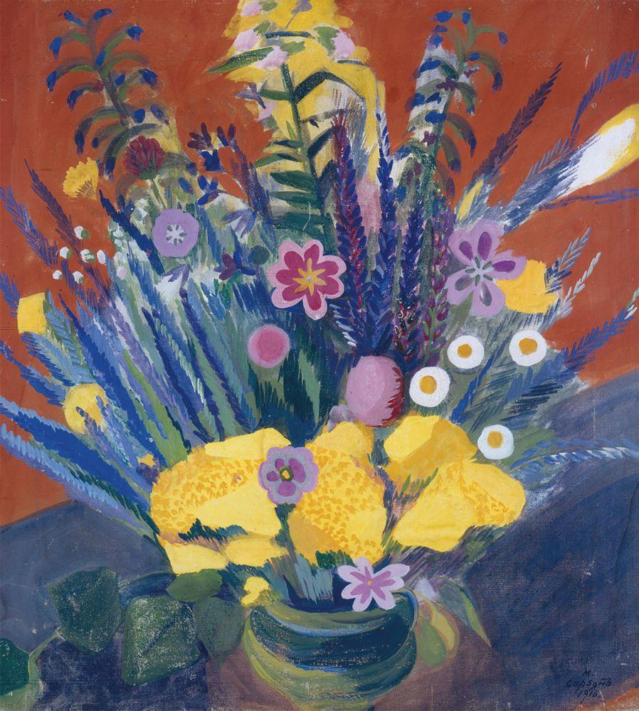 М.Сар'ян. Квіти Вірменії. 1916. Полотно, темпера. 70×66см