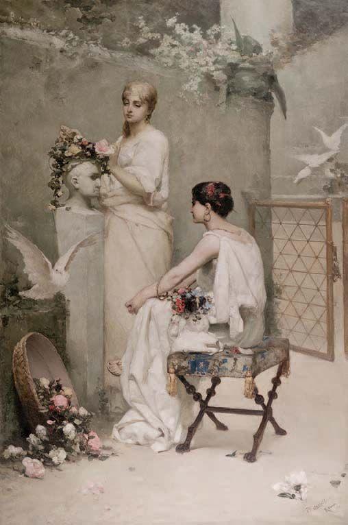 Увенчание поэта. 1881. Х., м. 180 × 90 см. Музей Замойских в Козлувке (Польша)