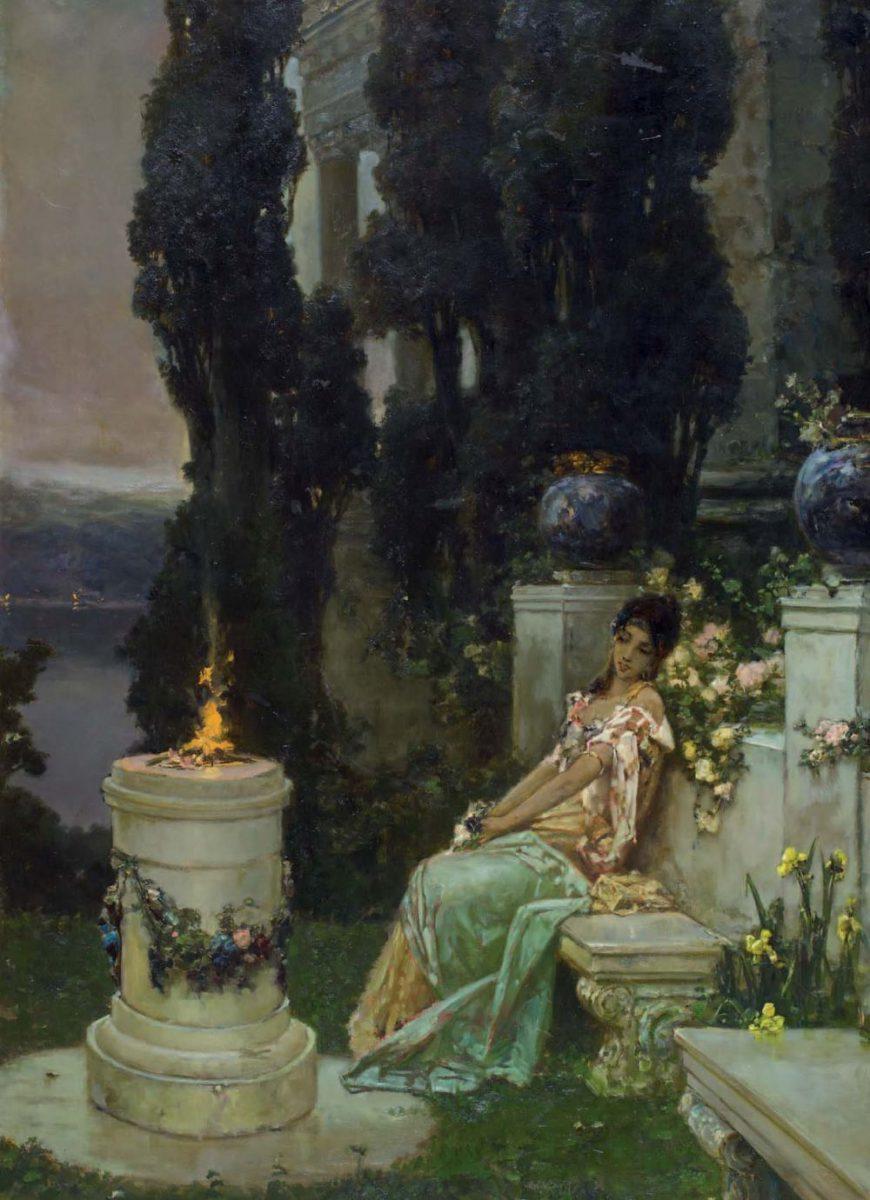 У жертвенника. Х., м. 137 × 94 см. Национальный музей «Киевская картинная галерея»
