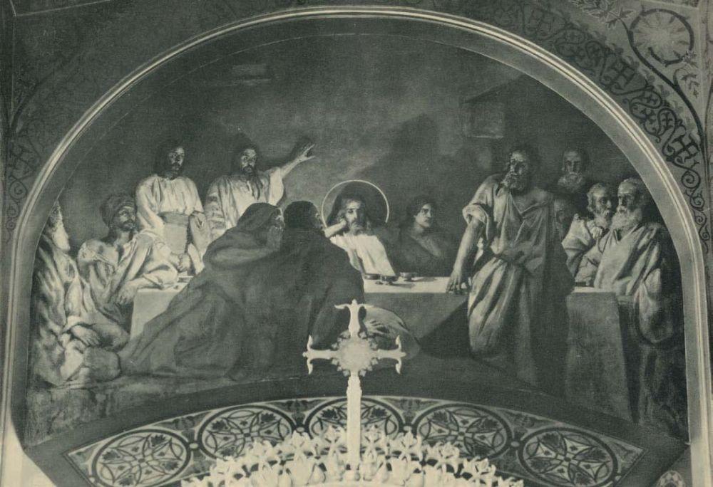Композиция «Тайная вечеря» в киевском Владимирском соборе (выполнена совместно с братьями Сведомскими). Первая половина 1890‑х гг.