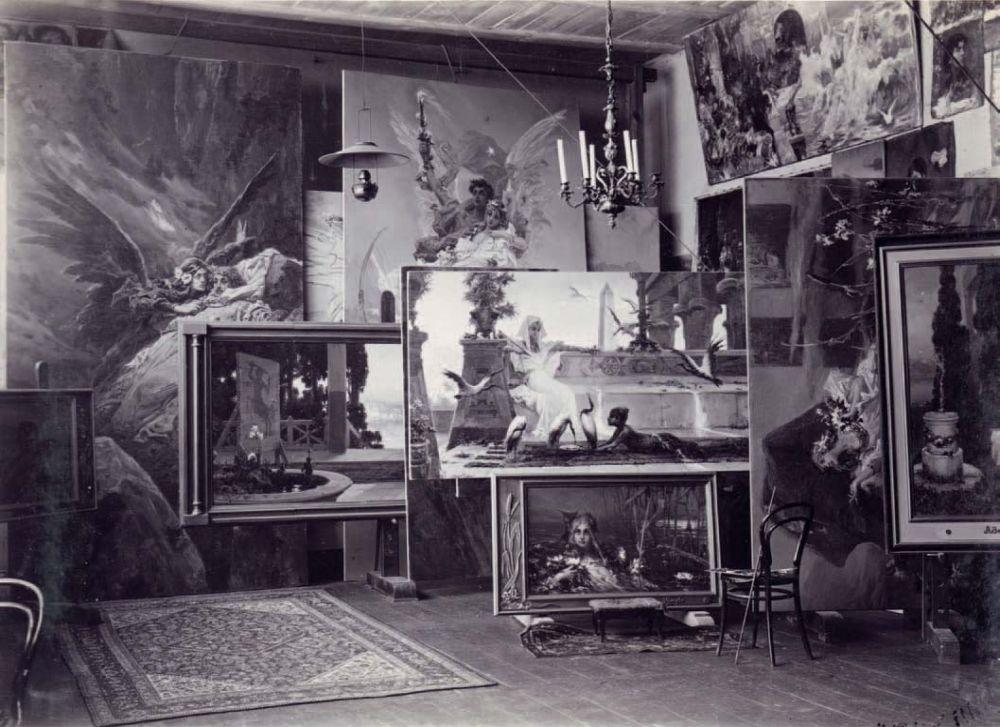 Мастерская В. Котарбинского в Кальске. Фото из коллекции семьи Мазюков