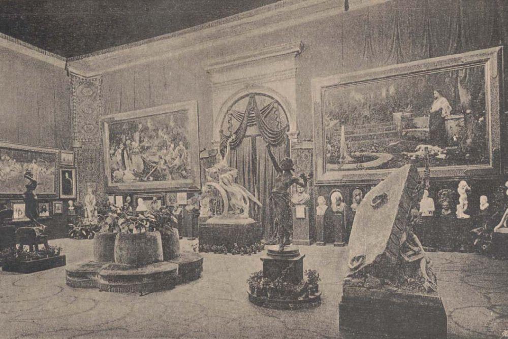 Картины «Оргия» и «Смерть Мессалины» на выставке во Львове в 1894 г.