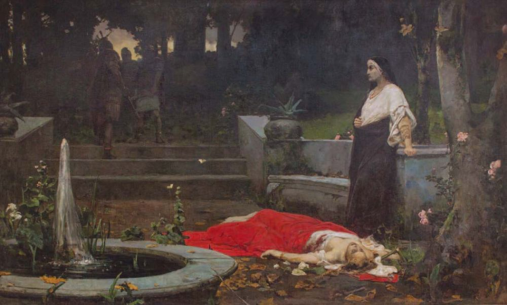 Смерть Мессалины. 1889–1892. Х., м. 300 × 500 см. Музей «Духовні скарби України»