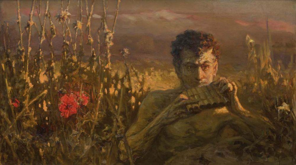 Сатир. Х., м. 70 × 122 см. Национальный музей «Киевская картинная галерея»