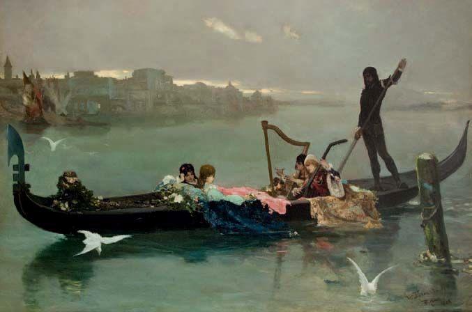 Венецианская серенада. 1881. Х., м. 150 × 225 см. Продано на аукционе Desa Unicum 12 декабря 2019 г.